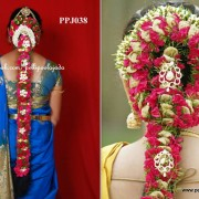 Order Fresh flower poo jadai ,wedding flower jadai, kalyana jadai, kalyana malai, south Indian bridal hair flowers, and jadai alangaram from our reputed branches present all over tamilnadu