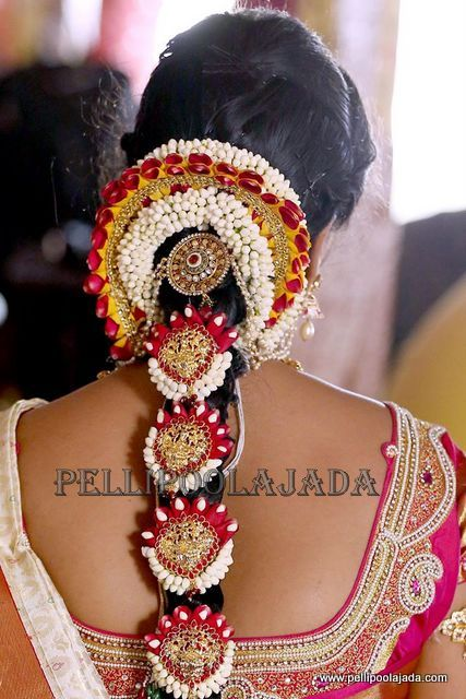 Latest South Indian Bridal Hairstyles Poojadai You Can Book Your Wedding Flower Jadai